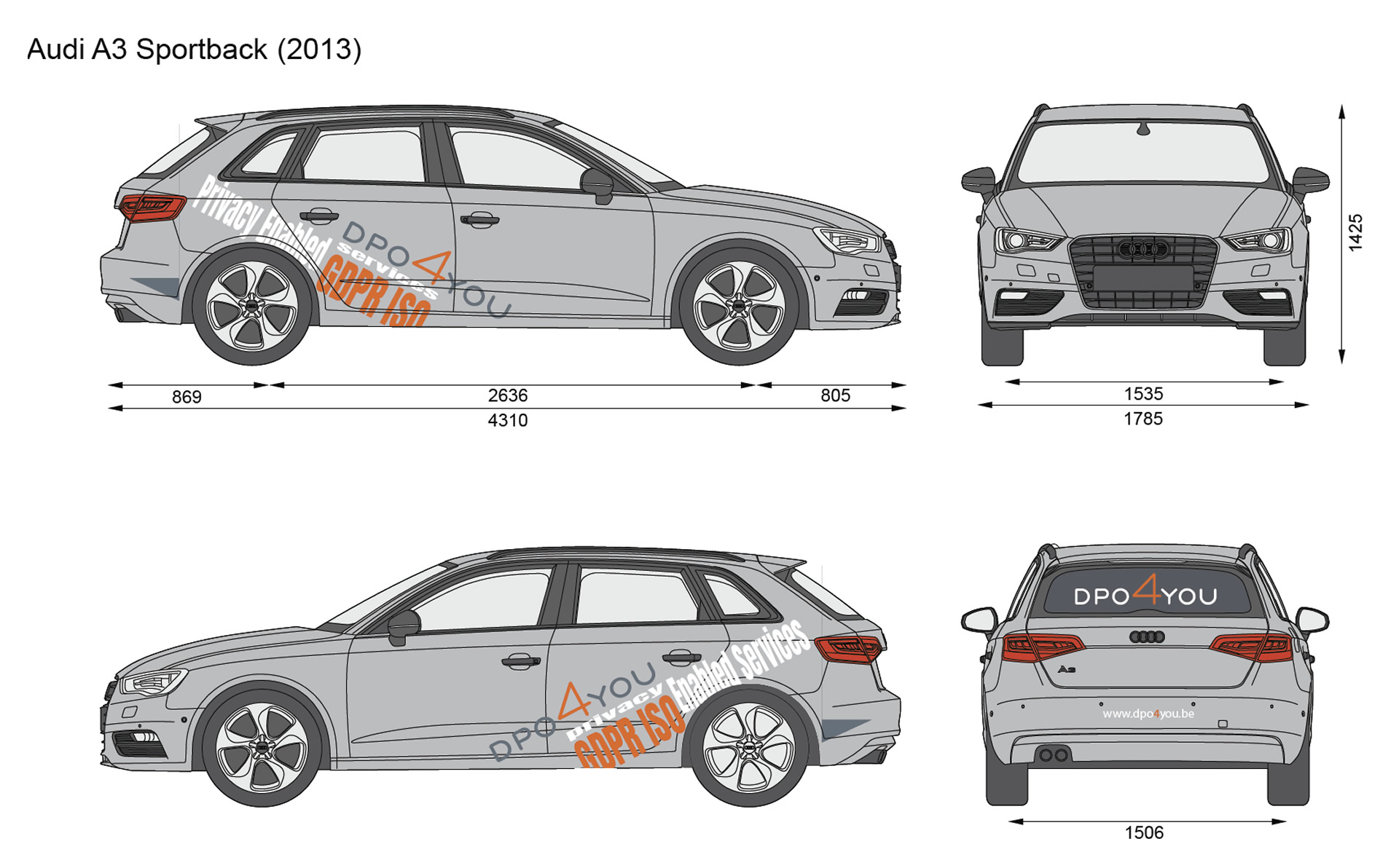 Audi A3 Sportback - MDG Creativity by MDG Promotions bv - dpo4you - The sign